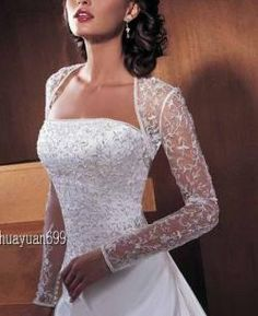Cheap wrap wedding, Buy Quality wedding jacket directly from China wedding jacket bolero Suppliers: LATEST STYLE!Bridal Shawl Wrap Wedding Jacket Bolero Transparent 2017 Elegant Sexy Long Sleeve Lace See Through Custom Made Wedding Dress Shrugs, Lace Jacket Wedding, Wedding Dress Necklines, Long Wedding Dresses, Long Sleeve Wedding, Bridal Dresses, Wedding Gowns, Lace Bolero Wedding, Lace Shrug
