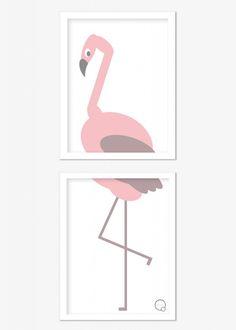 Poster KREATIVITUM - Kids Flamingo 2st 30x40 cm