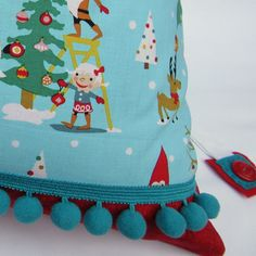 Personalized Christmas Santa Sack Santa's Elves hand made by The Old Button on Etsy