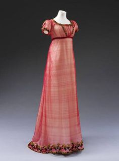 How pretty is this? Exactly what my heroine Nora would wear. - Evening dress - Machine made silk net, embroidered with chenille thread, with silk ribbon, hand-sewn 1800s Fashion, 19th Century Fashion, Victorian Fashion, Vintage Fashion, Fashion Goth, Vintage Gowns, Mode Vintage, Vintage Outfits, Antique Clothing