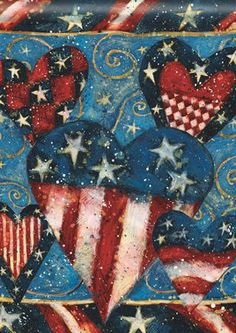 Patriotic Hearts Sparkle Everywhere We Find Them !! ❀