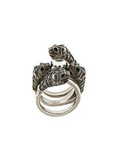 Gucci Embellished metal ring