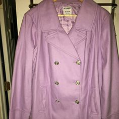 NWT OLD NAVY LAVENDER PEA COAT Pea coat with silver buttons. Beautiful color Old Navy Jackets & Coats Pea Coats