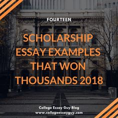 Fourteen Scholarship Essay Examples That Won Thousands 2019 Done with your college applications and working on scholarship essays? These are scholarship essays that have earned students thousands, and I'm sharing them so that you can you learn from what Grants For College, College List, Financial Aid For College, Online College, Scholarships For College, College Hacks, Education College, School Scholarship, College Packing