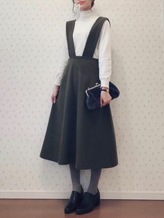 Outfits for school Modest Outfits, Modest Fashion, Hijab Fashion, Korean Fashion, Fashion Dresses, Ulzzang Fashion, Japan Fashion, Look Fashion, Womens Fashion