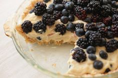 Raw Berry Pie with Coconut and Almond Crust
