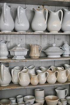 .Beautiful white stoneware