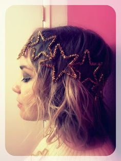 star hippie/princess headband! made only using sparkly pipe cleaners