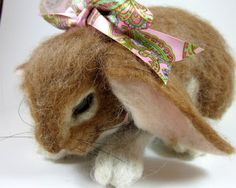 Robin Joy Andreae-Felted Bunny.  Wow this looks real.
