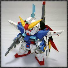 SD ZGMF-X42S Destiny Gundam Free Paper Model Download - http://www.papercraftsquare.com/sd-zgmf-x42s-destiny-gundam-free-paper-model-download.html