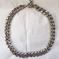 Zara Silver Chain Necklace Heavy duty. In excellent condition with very minor discoloration. Zara Jewelry Necklaces