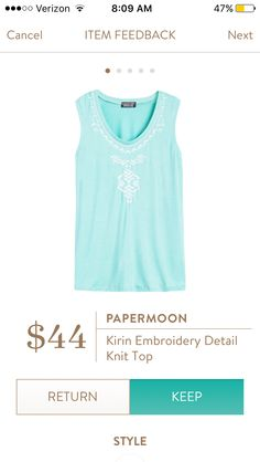 received this top in my #4 stitch fix in a mint color and love it! Very pretty and fits perfect.