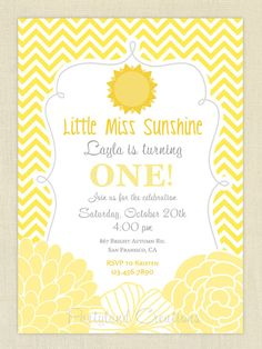 Little Miss Sunshine Birthday Party by PartylandCreations on Etsy