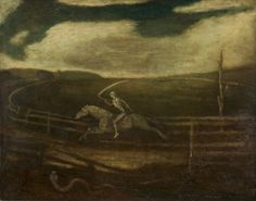 Albert Pinkham Ryder. The Race Track (Death on a Pale Horse) 1895 - 1910. Cleveland Museum of Art