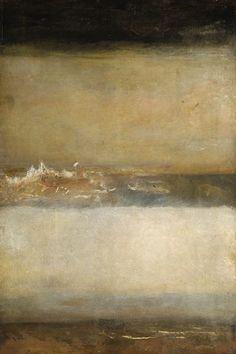 Peinture: William Turner J. M. W. Turner, Three Seascapes, c. 1827 ( très belle peinture ( et très peu connue) » je veux vivre sans me voir » «I want to liv…