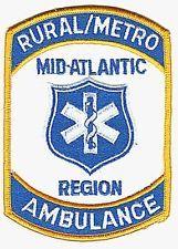 MID-ATLANTIC REGION RURAL / METRO AMBULANCE PATCH
