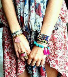 bracelets color, patterns; drippin style