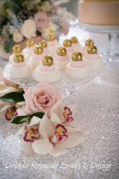 meringues and gold...Wedding by Debbie Kennedy Events & Design Formerly SugarPlumD, via Flickr
