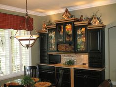 Black Schuler Hutch traditional dining room