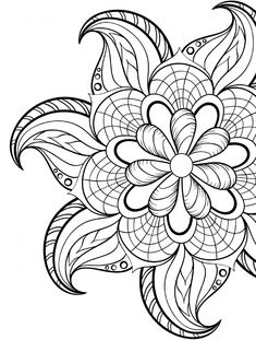 Abstract Coloring Pages, Flower Coloring Pages, Mandala Coloring Pages, Coloring Pages To Print, Free Coloring Pages, Coloring Books, Coloring Sheets, Kids Coloring, Adult Colouring Pages