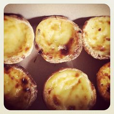 * fresh from the local bakery,  portuguese custard tarts . . . - @thisisglamorous- #webstagram