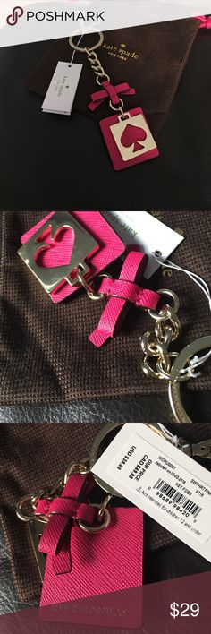 Adorable Kate Spade Key chain💕 Beautiful with a dust pouch😍.  Enjoy:)💕 kate spade Accessories