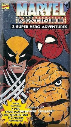 """A collection of Marvel Comic's favorite heroes and villains. Includes: The Original X-Men in """"The Pryde of the X-Men"""", Spider-Man in """"Bubble, Bubble, Oil and Trouble"""" and The Fantastic Four in """"The Frightful Four"""".  Only $9.99 with Free Shipping!"""