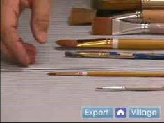 How to Paint with Acrylic Paint : Choosing an Acrylic Paint Brush