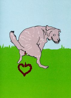 Funny+Valentine's+Card++Dog+says+I+Love+You+by+LIKKS+on+Etsy,+£2.75