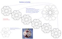 Frywolitkowe pantalony na bombkę - wzór #tatting_patterns #tatting  #frywolitki
