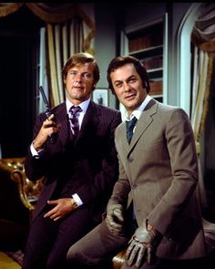 Roger Moore and Tony Curtis as Brett Sinclair and Danny Wilde in The Persuaders. (One more reason to love John Barry's work)