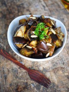 Salade d'aubergines fondantes - Recette facile - Marciatack.fr
