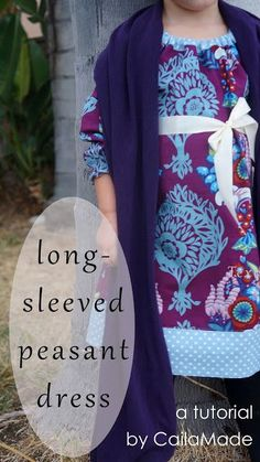 Long-Sleeved Peasant Dress {tutorial} and Figgy's Giveaway!