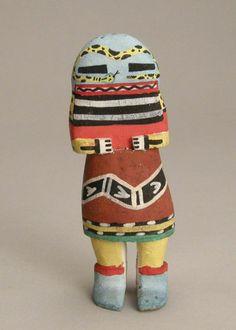 Hopi Kachina Doll c.1950, likely representing the Rattle Snake kachina.