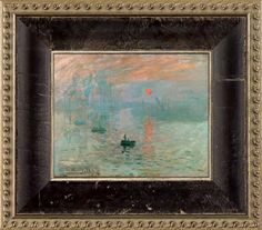 Monet, Impression, Sunrise Pre-Framed Miniature Reproduction