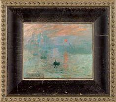 La Pastiche Claude Monet 'Impression, Sunrise' Pre-Framed Miniature Print on Canvas (Monet Impression Miniature Print on Canvas), Brown Unique Paintings, Beautiful Paintings, Canvas Frame, Canvas Art, Canvas Prints, Best Canvas, To Color, Claude Monet, Online Art Gallery