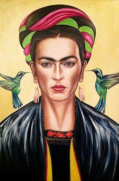 Retrato de Frida Kahlo Origenes, oleo sobre tela 120x80 cm, 2013 By Carlos Apartado