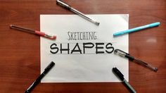 After Understanding Lineweights, now you need to master creating Guidelines, the lightest line you can make. This is part 4 of my Sketching tutorials usin. Sketches Tutorial, Sketching, Shapes, Pens, How To Make, Sketch, Sketches, Tekenen