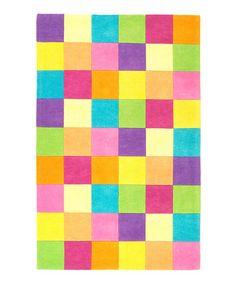 Look at this #zulilyfind! Pink Color Block Rug #zulilyfinds