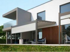 Anbau Terrassenüberdachung aus Aluminium mit Faltdach META by PRATIC F.lli ORIOLI