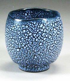 crackle glazed stoneware unomi 11cm., Kristy Weiser Tempe, Arizona