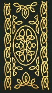 Celtic knot embroidery - maybe a tad odd for a man to like sewing...but he does!!
