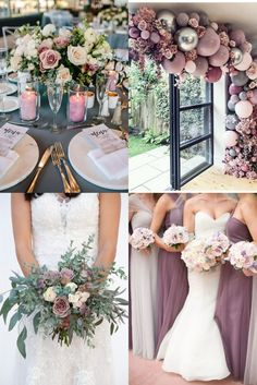purple mauve and greenery wedding color ideas Lavender Wedding Theme, Lavender Wedding Colors, Dark Purple Wedding, Elegant Wedding Colors, Indigo Wedding, Sage Wedding, Summer Wedding Colors, Wedding Flowers, Wedding Color Schemes