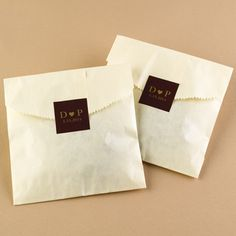 Initials and Heart - Chocolate - Favor Labels