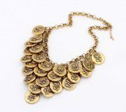 Rose Bib Necklaces Brass Statement Necklace Bubbles Ethnic Bohemian Ornamentation Short Chain Necklaces Fashion Current