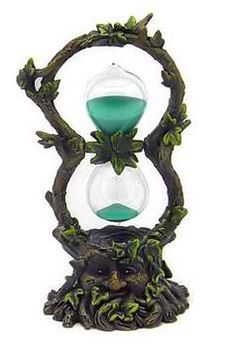 In a modern age that has digital timers accurate to the millisecond, a sand timer might seem like an archaic relic. The Green Man Sand Timer has simply changed from functional tool to intriguing decoration. Wiccan, Witchcraft, Hourglass Sand Timer, Sand Timers, Green Man, Wizard Of Oz, Book Of Shadows, Decoration, Celtic