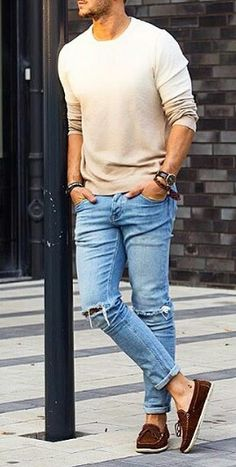 Mens Fashion – Designer Fashion Tips Casual Summer Dresses, Casual Outfits, Casual Wear For Men, Classy Men, Classy Style, Fashion Design Sketches, Mens Fashion Suits, Fashion Pictures, Jeans