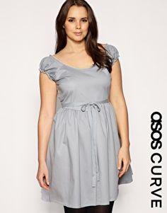 Tie waisted dress, Asos Curve $51