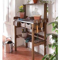Gartenschrank Holz, Pflanztisch Holz, Pflanztisch