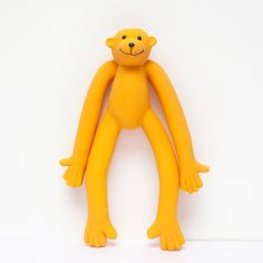 Large squeaky monkey dog toy. Rubber filled with fleece. Suitable for medium and large dogs.